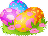 Beautiful Easter eggs — Stock Vector