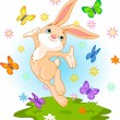 Stock Vector: Spring bunny