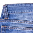 Blue Jeans on white — Stock Photo
