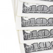 Royalty-Free Stock Photo: One Hundred Dollar Bills. Close-up shot