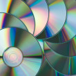 Multicolored CD disks — Stock Photo
