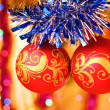 Christmas decorative balls — Foto Stock
