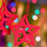 Christmas decorative star — Stock Photo