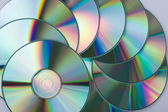 Multicolored CD disks — Stock Photo