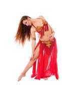 Mooi meisje danser van buikdansen — Stockfoto