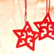 Christmas decorative star — Stock Photo