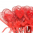 Red hearts for Valentine — Stock Photo #1407148
