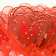 Red hearts for Valentine — Stock Photo