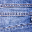 Stock Photo: Blue Jeans Background with Seams