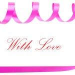 Holiday ribbon for valentine — Stock Photo #1423093