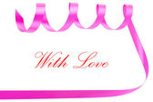 Holiday ribbon for valentine — Stock Photo