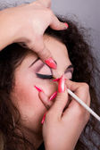 Make-up creation procedure — Stock Photo