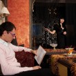 Стоковое фото: Young couple in luxury interior