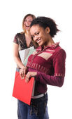 Cheerful multi-ethnic students — Stock Photo