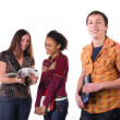 Multi-ethnic group of students — Stock Photo