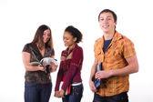 Grupo multiétnico de estudantes — Foto Stock