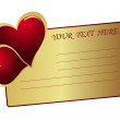 Royalty-Free Stock Vector Image: Card and heart