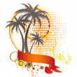 Palm background - Stock Vector