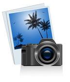 Palm camera — Stock Vector