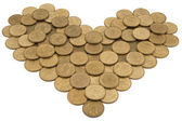 Monetary heart — Stock Photo