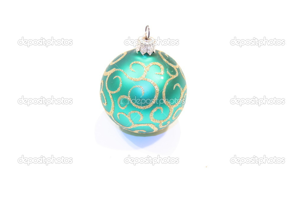 Christmas baubles isolated on the white background  — Foto Stock #1135751