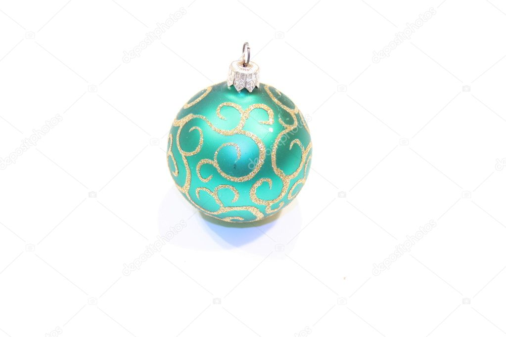Christmas baubles isolated on the white background   Photo #1135751