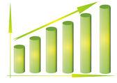 Growing diagram — Stock Photo