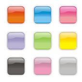 Glossy Buttons — Stock Photo