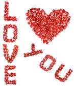 Liefde en hart — Stockfoto