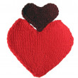 Knitted hearts — Stock Photo