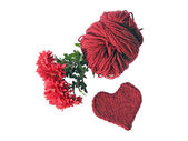 Knitted heart — Stock Photo