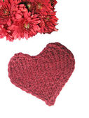 And knitted hearts — Stock Photo