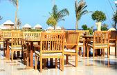 Restaurant ashore the Red sea — Stock Photo