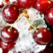 Stock Photo: Fresh juicy cherry