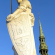 Stock Photo: Sculpture of Roland in Riga
