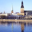 Panorama of Riga city — Stock Photo