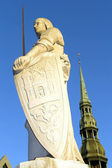 Sculpture of Roland in Riga — Stock Photo