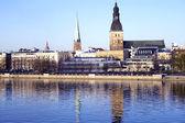 Panorama of Riga city — Stock Photo