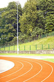 Track on stadium — Stock Photo
