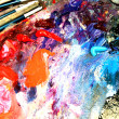 Multi-coloured paints — Stock Photo