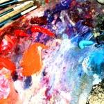Multi-coloured paints — Stock Photo