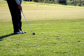 Golf swing — Stock Photo