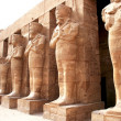 Stock Photo: Ancient statues in Karnak temple