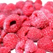 Frozen Raspberries - Stock Photo