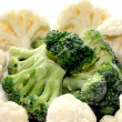 Frozen broccoli and cauliflower — Stock Photo