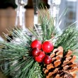 Christmas table decoration — Stockfoto
