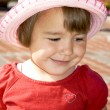 Smiling cute little girl — Stock fotografie