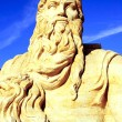 Stock Photo: Moses sand sculpture