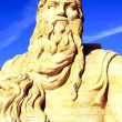 Moses sand sculpture - Stock Photo