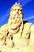 Moses sand sculpture — Stock Photo